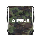 Nylon Camo Drawstring Backpack-Airbus
