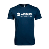 Next Level SoftStyle Navy T Shirt-Airbus Helicopters