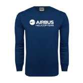 Navy Long Sleeve T Shirt-Airbus Helicopters