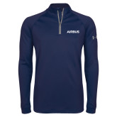 Under Armour Navy Tech 1/4 Zip Performance Shirt-Airbus