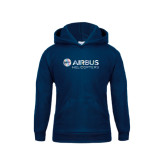Youth Navy Fleece Hood-Airbus Helicopters Foil