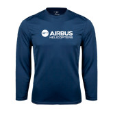 Syntrel Performance Navy Longsleeve Shirt-Airbus Helicopters