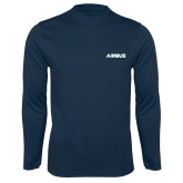 Syntrel Performance Navy Longsleeve Shirt-Airbus