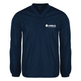 V Neck Navy Raglan Windshirt-Airbus Helicopters