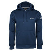 Under Armour Navy Performance Sweats Team Hoodie-Airbus