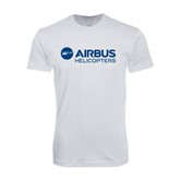 Next Level SoftStyle White T Shirt-Airbus Helicopters