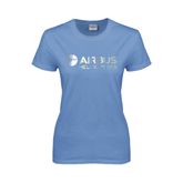 Ladies Arctic Blue T Shirt-Airbus Helicopters Foil