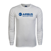 White Long Sleeve T Shirt-Airbus Helicopters