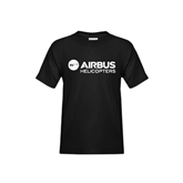 Youth Black T Shirt-Airbus Helicopters