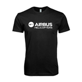 Next Level SoftStyle Black T Shirt-Airbus Helicopters