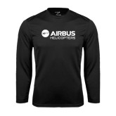 Syntrel Performance Black Longsleeve Shirt-Airbus Helicopters