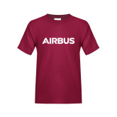 Youth Maroon T Shirt-Airbus