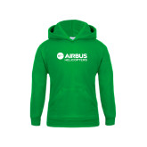 Youth Kelly Green Fleece Hood-Airbus Helicopters