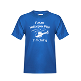 Youth Royal Blue T Shirt-Future Helicopter Pilot