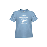 Toddler Light Blue T Shirt-Future Helicopter Pilot