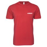 Next Level SoftStyle Red T Shirt-Airbus