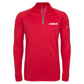 Under Armour Red Tech 1/4 Zip Performance Shirt-Airbus