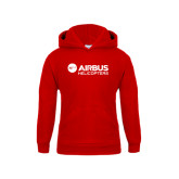 Youth Red Fleece Hood-Airbus Helicopters
