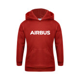 Youth Red Fleece Hoodie-Airbus