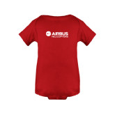 Red Infant Onesie-Airbus Helicopters