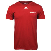 Adidas Climalite Red Ultimate Performance Tee-Airbus