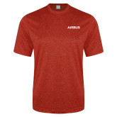 Performance Red Heather Contender Tee-Airbus