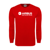 Red Long Sleeve T Shirt-Airbus Helicopters