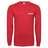 Red Long Sleeve T Shirt-Airbus
