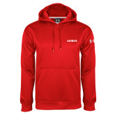 Under Armour Red Performance Sweats Team Hoodie-Airbus