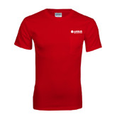 Red T Shirt w/Pocket-Airbus Helicopters