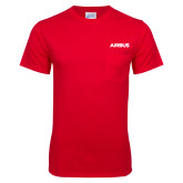 Red T Shirt w/Pocket-Airbus