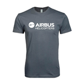 Next Level SoftStyle Charcoal T Shirt-Airbus Helicopters