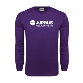 Purple Long Sleeve T Shirt-Airbus Helicopters