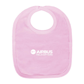 Light Pink Baby Bib-Airbus Helicopters