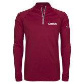 Under Armour Maroon Tech 1/4 Zip Performance Shirt-Airbus