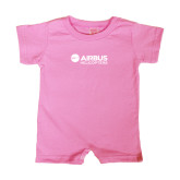 Bubble Gum Pink Infant Romper-Airbus Helicopters