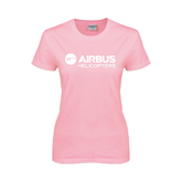 Ladies Pink T-Shirt-Airbus Helicopters