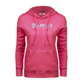 Fuchsia Fleece Hood-Airbus Helicopters Foil