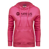 Fuchsia Fleece Hood-Airbus Helicopters Hot Pink Glitter