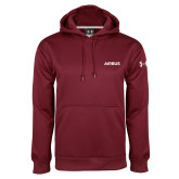 Under Armour Maroon Performance Sweats Team Hoodie-Airbus