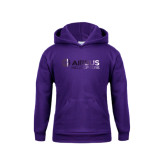 Youth Purple Fleece Hood-Airbus Helicopters Foil