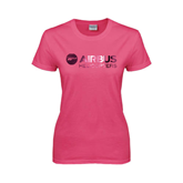 Ladies Fuchsia T Shirt-Airbus Helicopters Foil