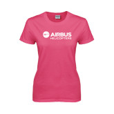 Ladies Fuchsia T Shirt-Airbus Helicopters