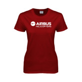 Ladies Cardinal T Shirt-Airbus Helicopters