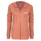 ENZA Ladies Coral Light Weight Fleece Full Zip Hoodie-Airbus