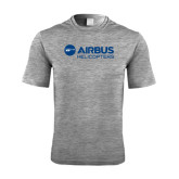 Performance Grey Heather Contender Tee-Airbus Helicopters