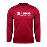 Syntrel Performance Cardinal Longsleeve Shirt-Airbus Helicopters