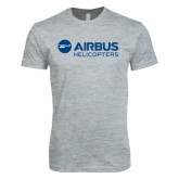 Next Level SoftStyle Heather Grey T Shirt-Airbus Helicopters