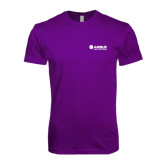 Next Level SoftStyle Purple T Shirt-Airbus Helicopters