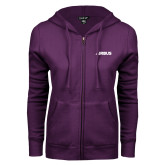 ENZA Ladies Purple Fleece Full Zip Hoodie-Airbus